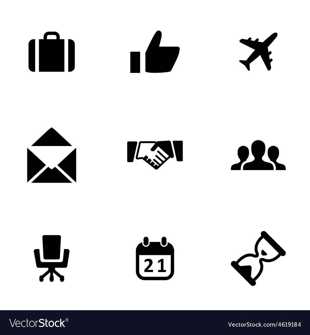 Business 9 icons set vector | Price: 1 Credit (USD $1)