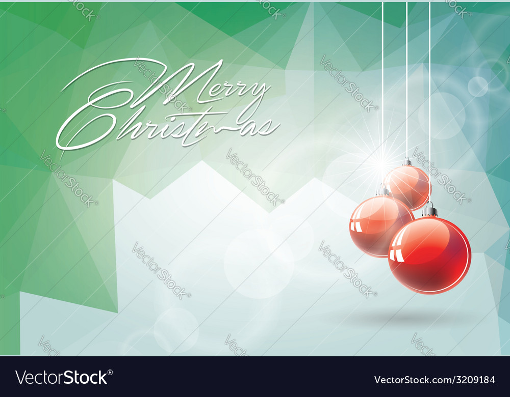 Christmas with red glass ball vector | Price: 1 Credit (USD $1)
