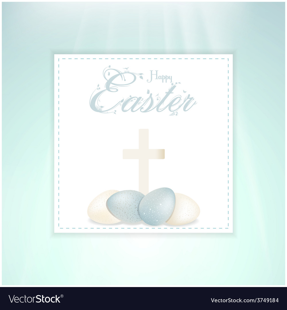 Easter speckled eggs and cross on panel vector | Price: 1 Credit (USD $1)