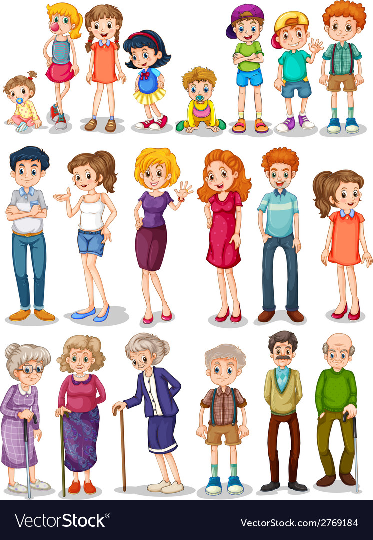 Family set vector | Price: 1 Credit (USD $1)