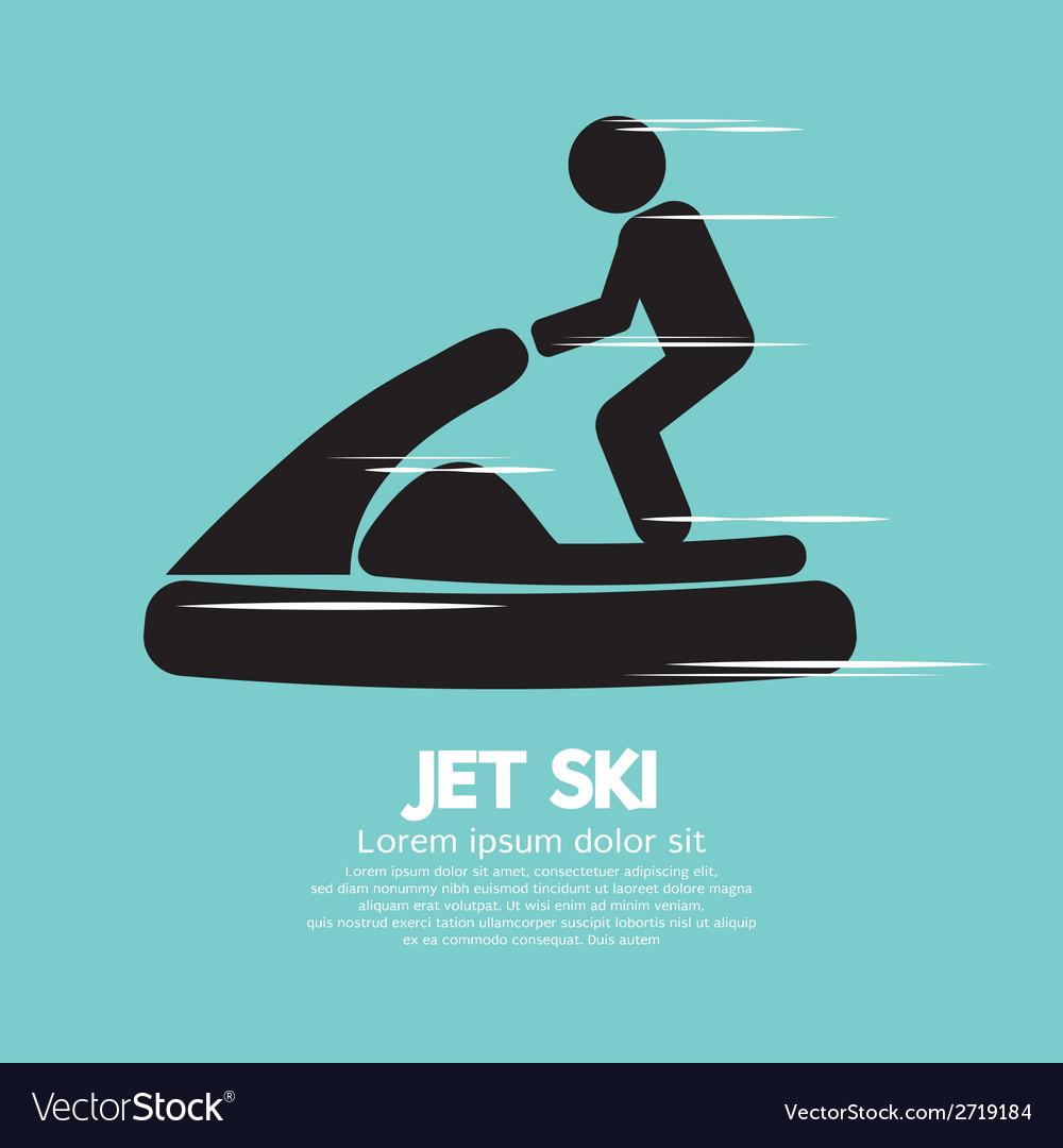 Jet ski sport sign vector | Price: 1 Credit (USD $1)