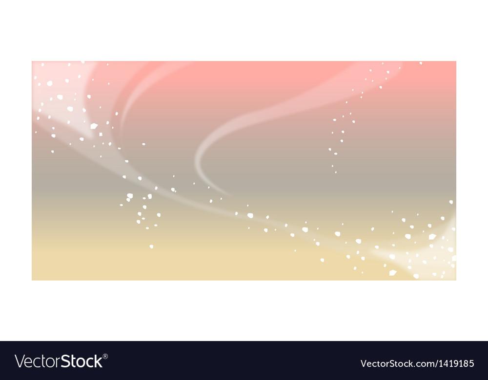 Aurora borealis over sky vector | Price: 1 Credit (USD $1)