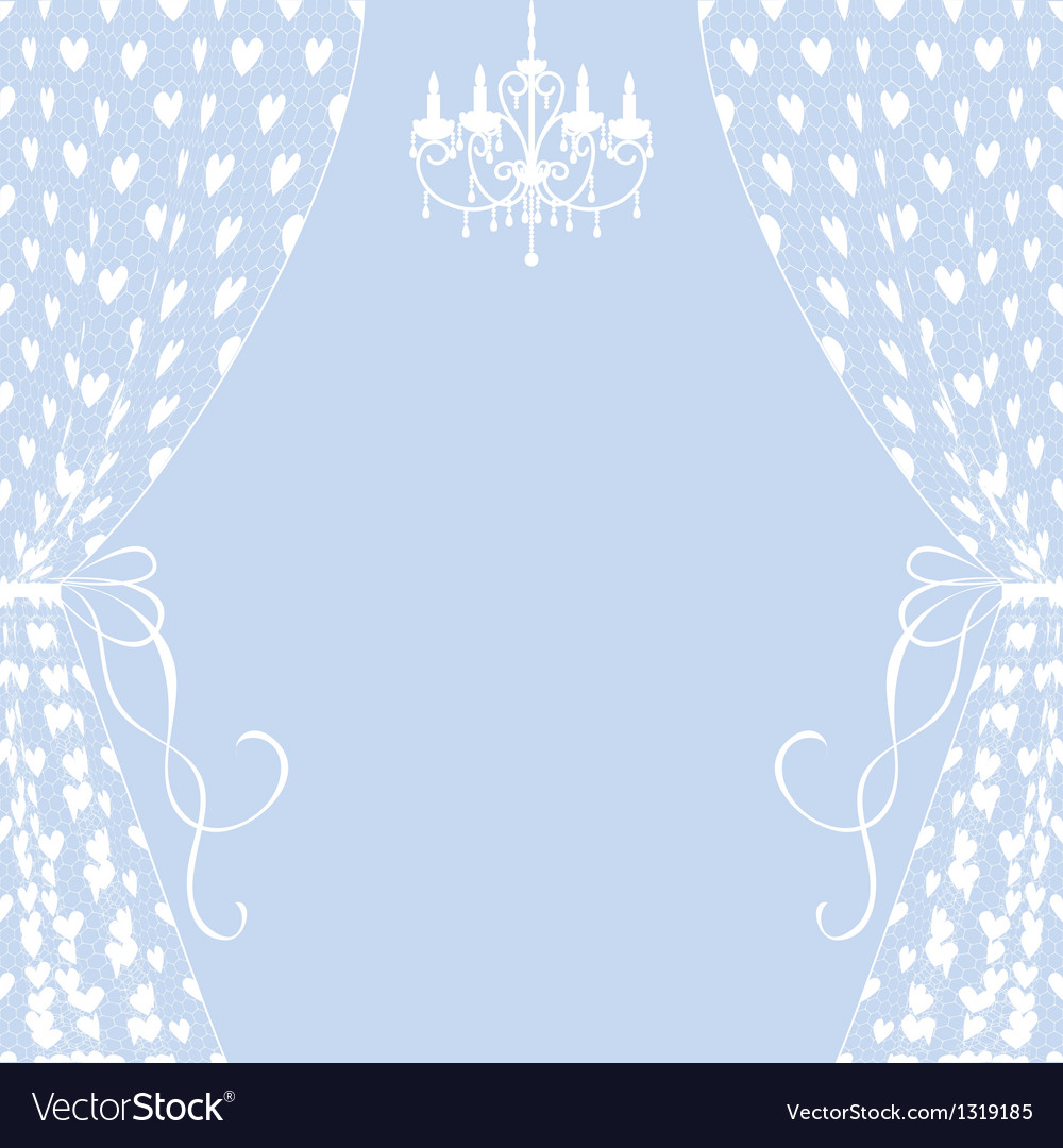 Curtains and chandelier vector | Price: 1 Credit (USD $1)