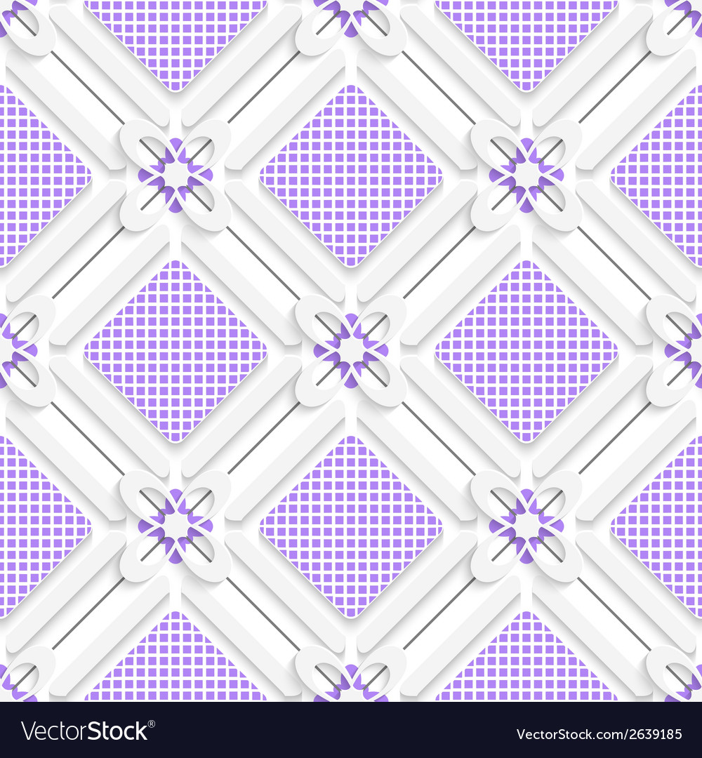 Diagonal purple checked squares pattern vector | Price: 1 Credit (USD $1)