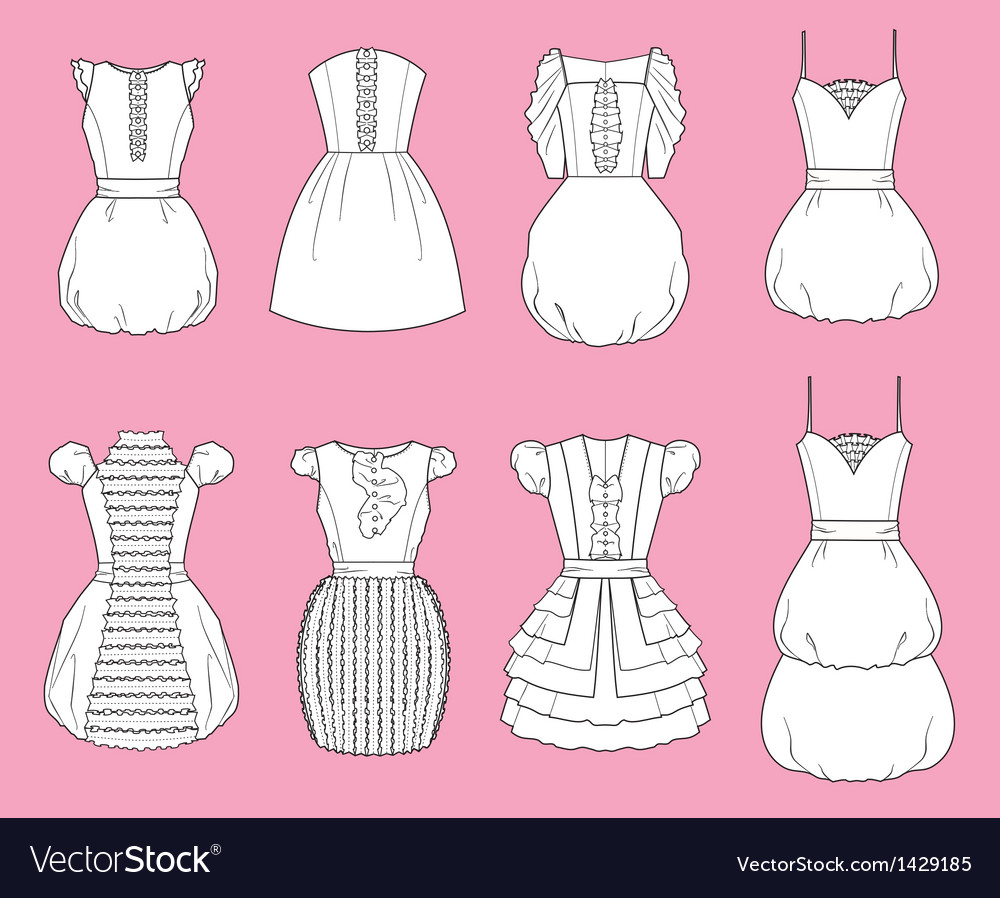 Dresses vector | Price: 1 Credit (USD $1)