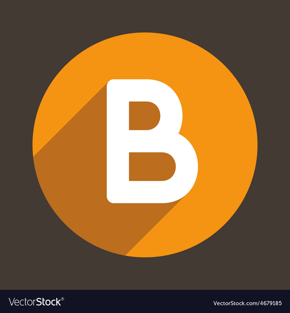 Letter b logo flat icon style vector | Price: 1 Credit (USD $1)