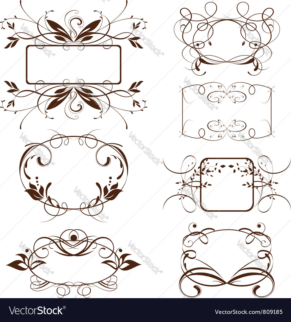 Vintage ornate frame vector | Price: 1 Credit (USD $1)