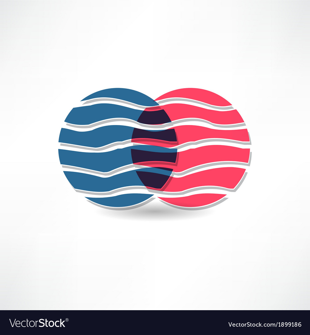 Abstract circles with wavy line icon vector | Price: 1 Credit (USD $1)