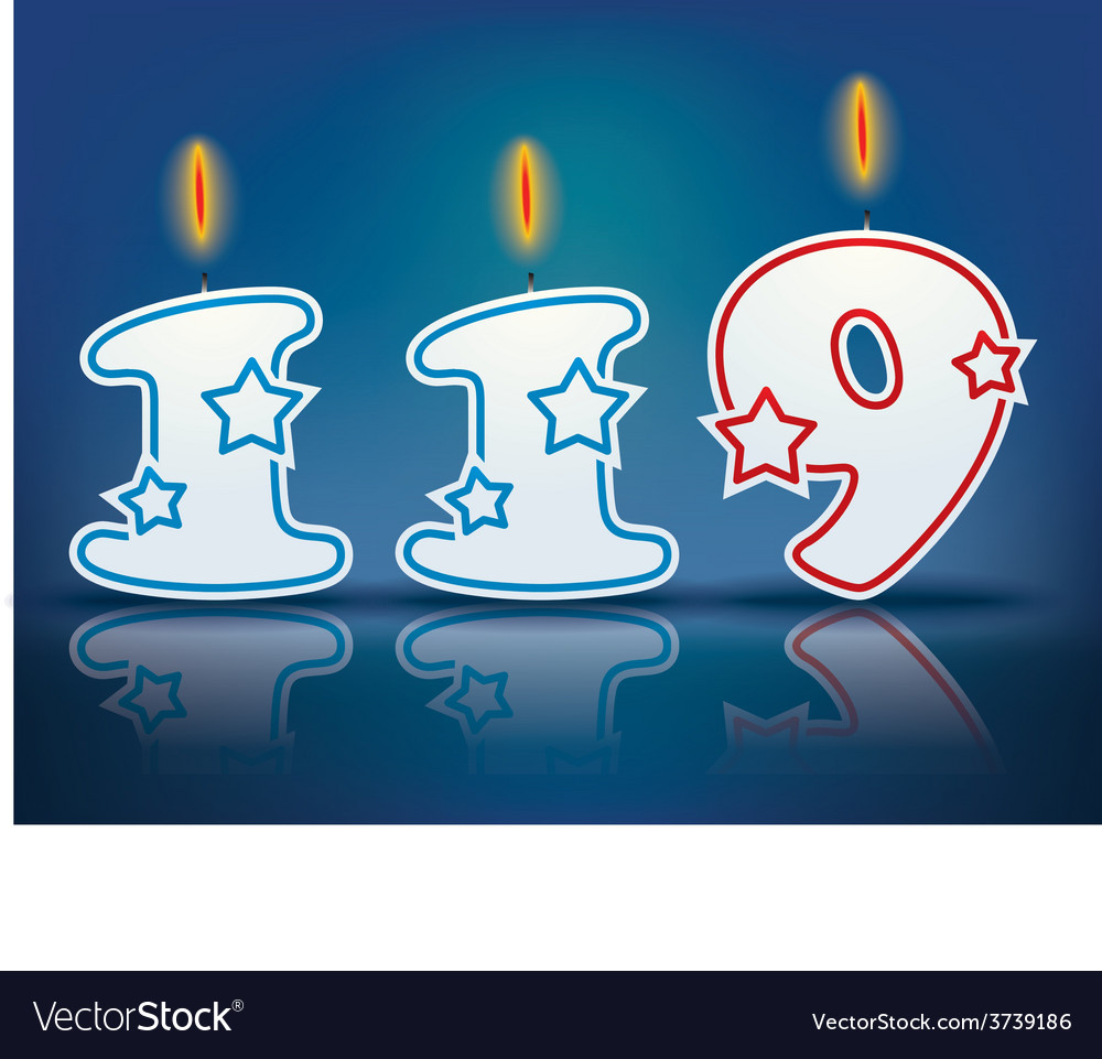 Birthday candle number 119 vector | Price: 1 Credit (USD $1)