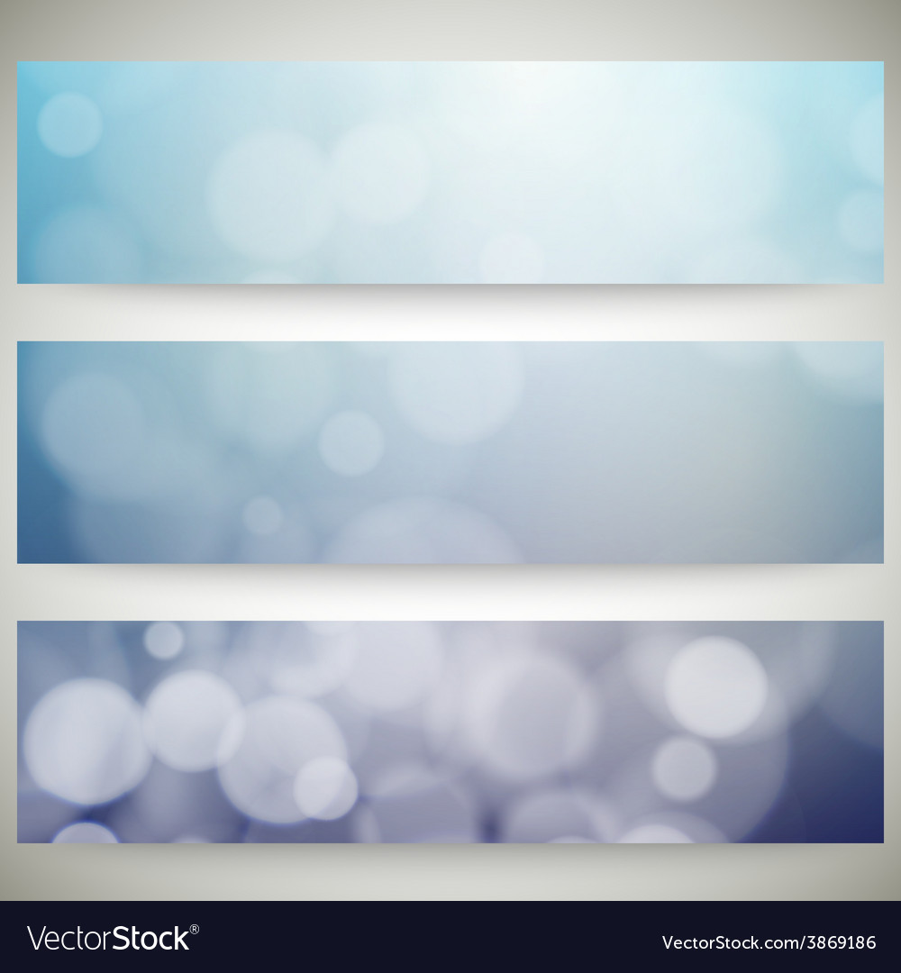Blurry backgrounds set with bokeh effect abstract vector   Price: 1 Credit (USD $1)