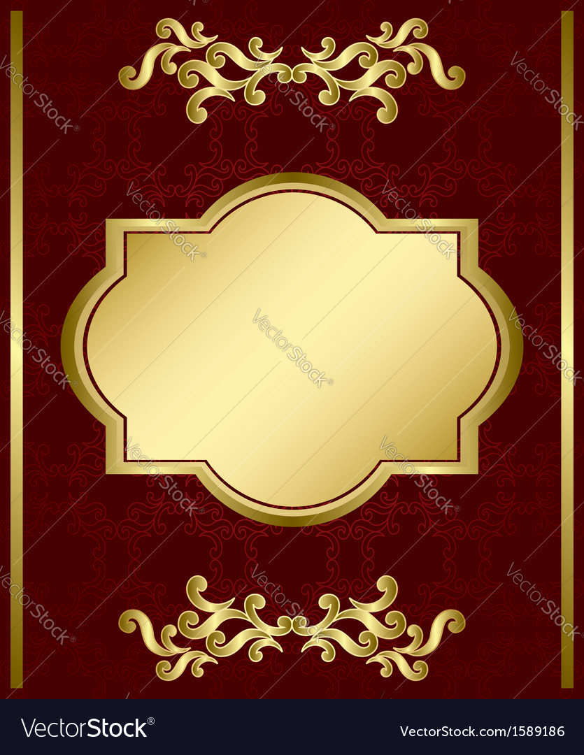 Brown card with gold decorations vector   Price: 1 Credit (USD $1)