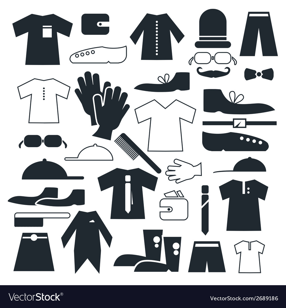 Clothes - fashion flat icons vector | Price: 1 Credit (USD $1)