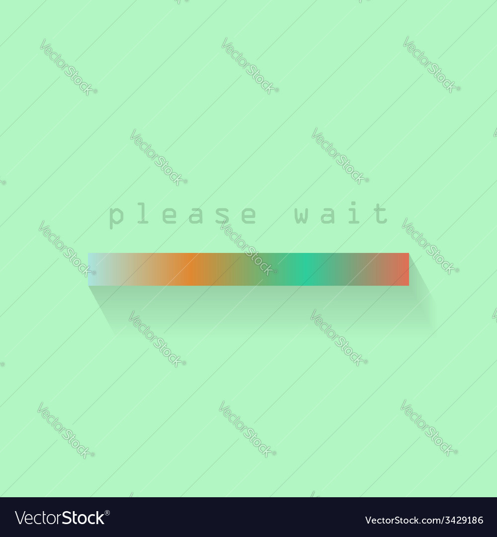 Colored loading bar with shadow vector | Price: 1 Credit (USD $1)