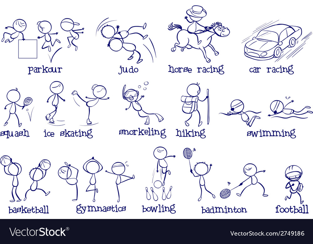 Different types of sports vector | Price: 1 Credit (USD $1)