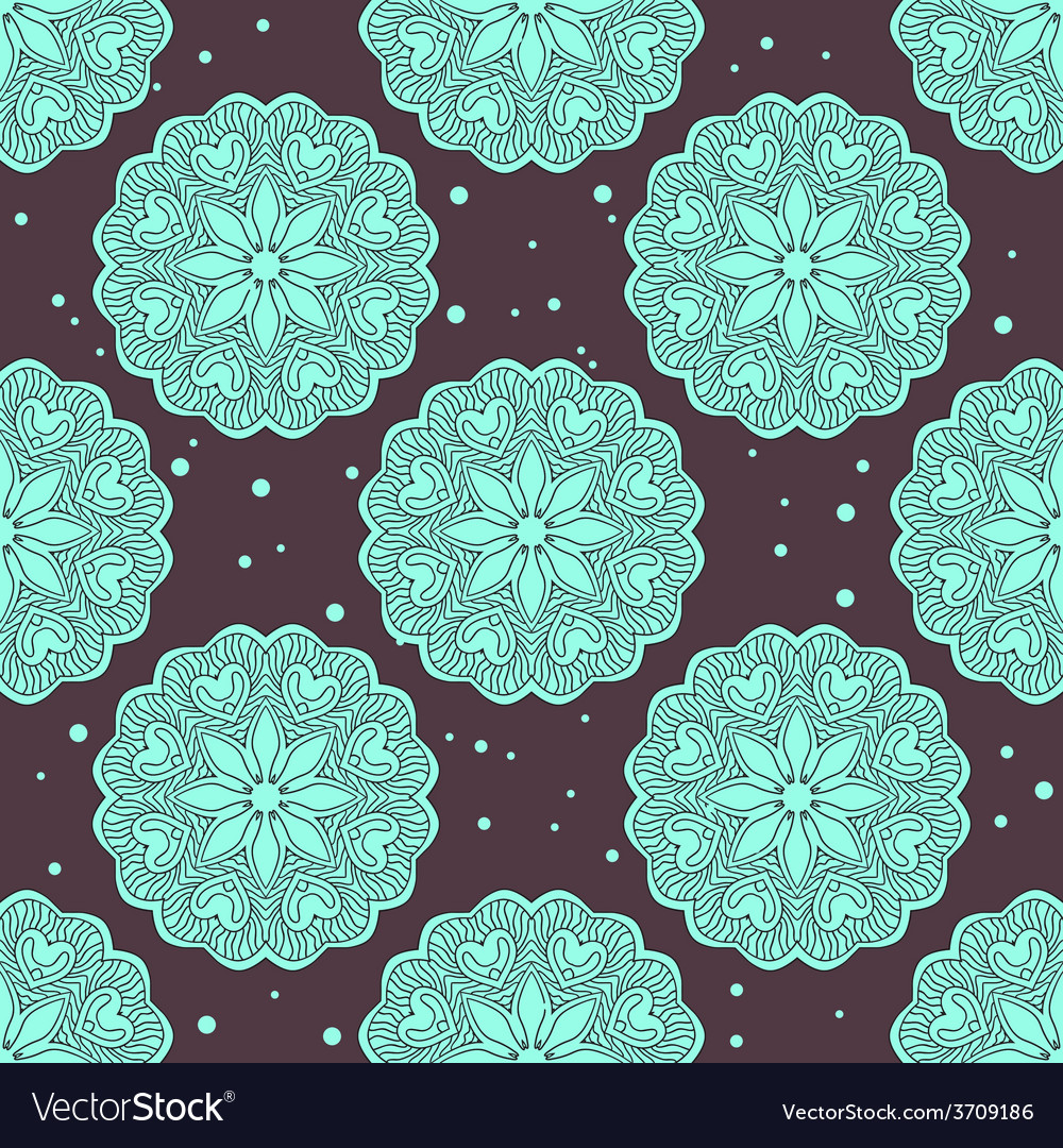 Ethnic seamless pattern with large mandalas vector | Price: 1 Credit (USD $1)