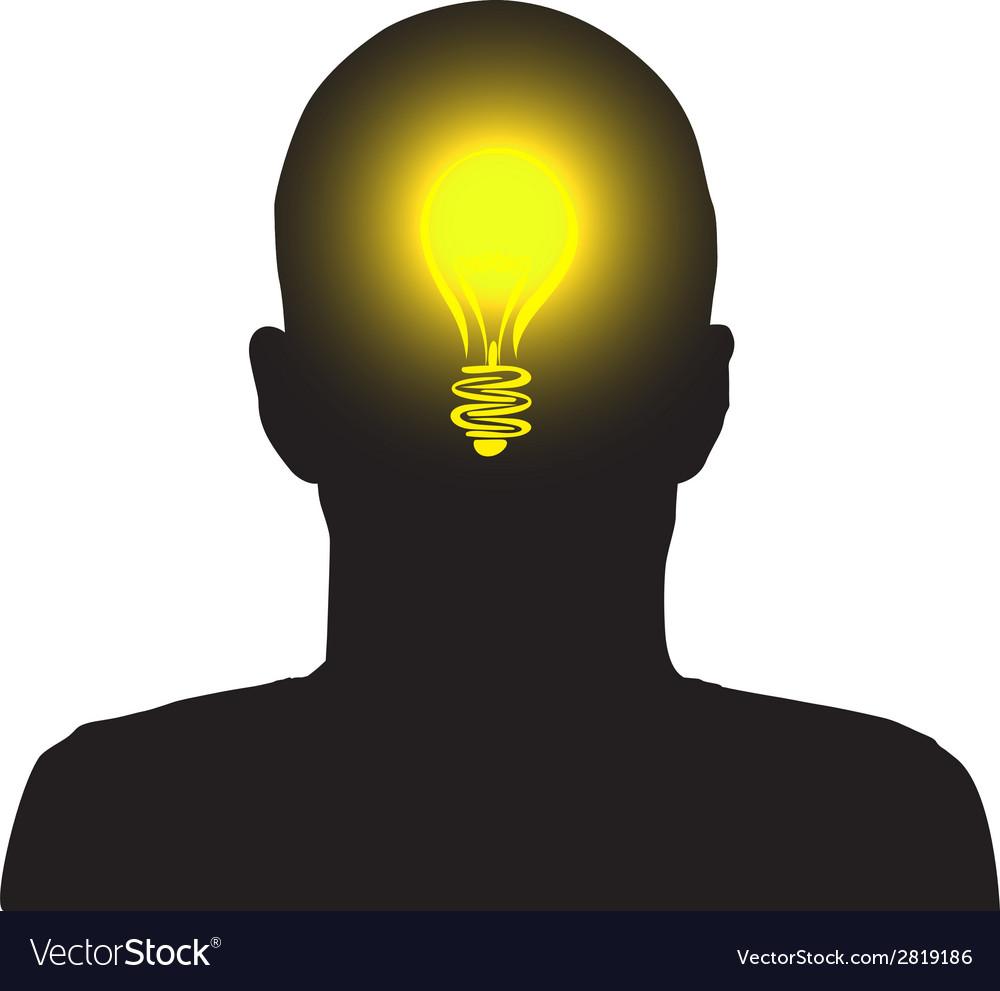 Lightbulb man vector | Price: 1 Credit (USD $1)