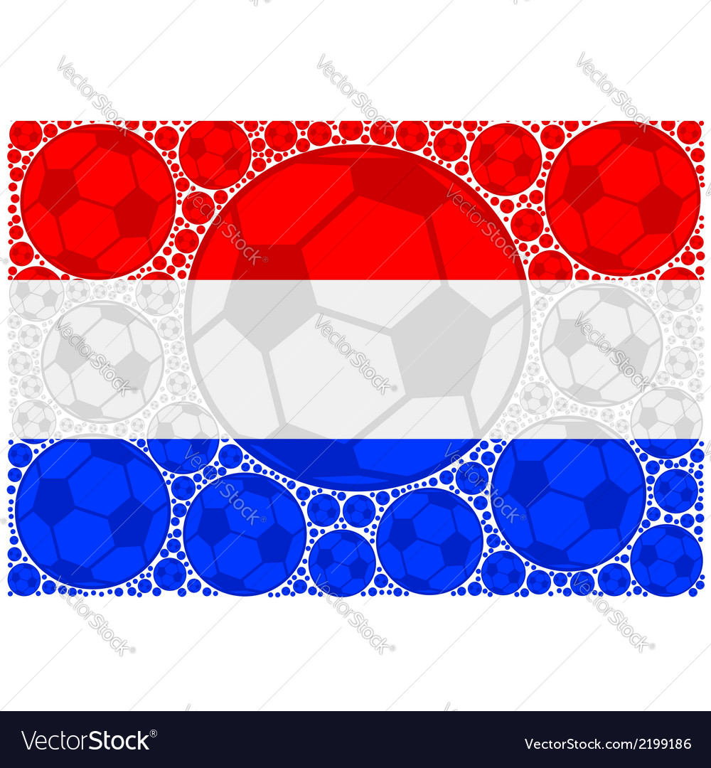 Netherlands soccer balls vector | Price: 1 Credit (USD $1)