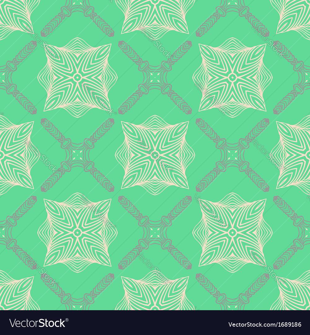 Pattern in emerald green delicate elegant lines vector | Price: 1 Credit (USD $1)