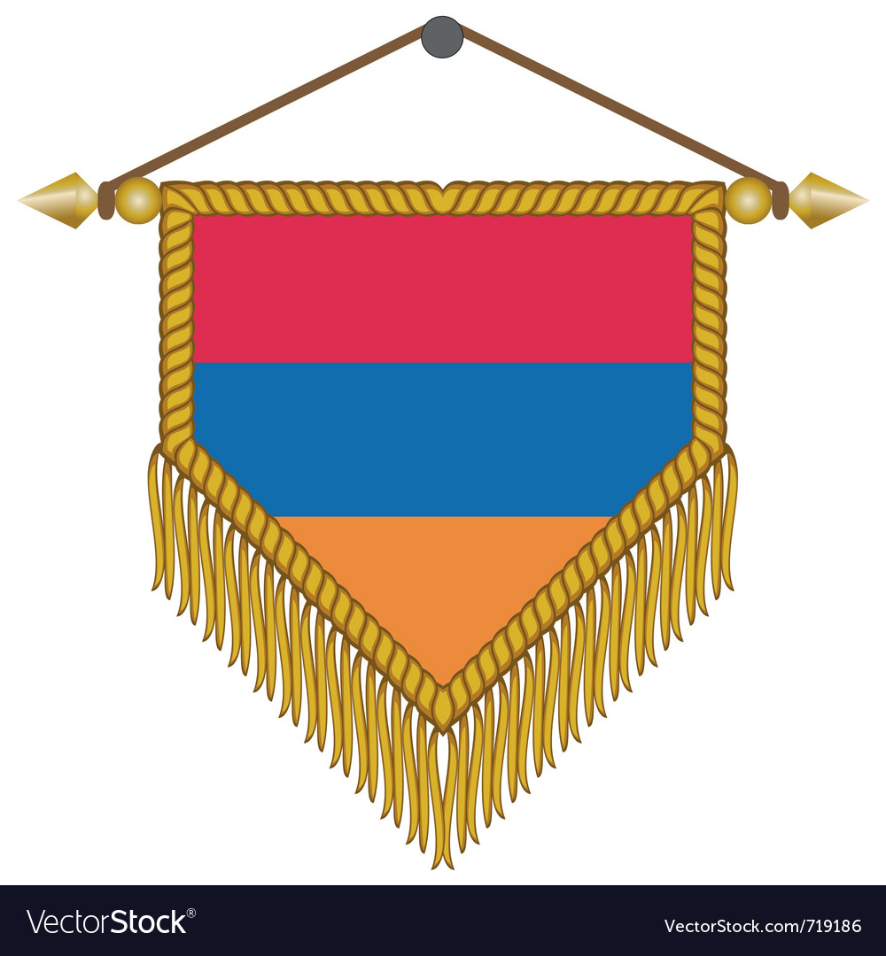 Pennant with the flag of armenia vector | Price: 1 Credit (USD $1)