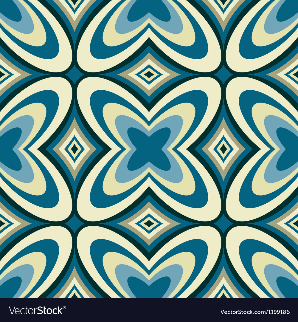 Retro wallpaper abstract seamless pattern vector | Price: 1 Credit (USD $1)