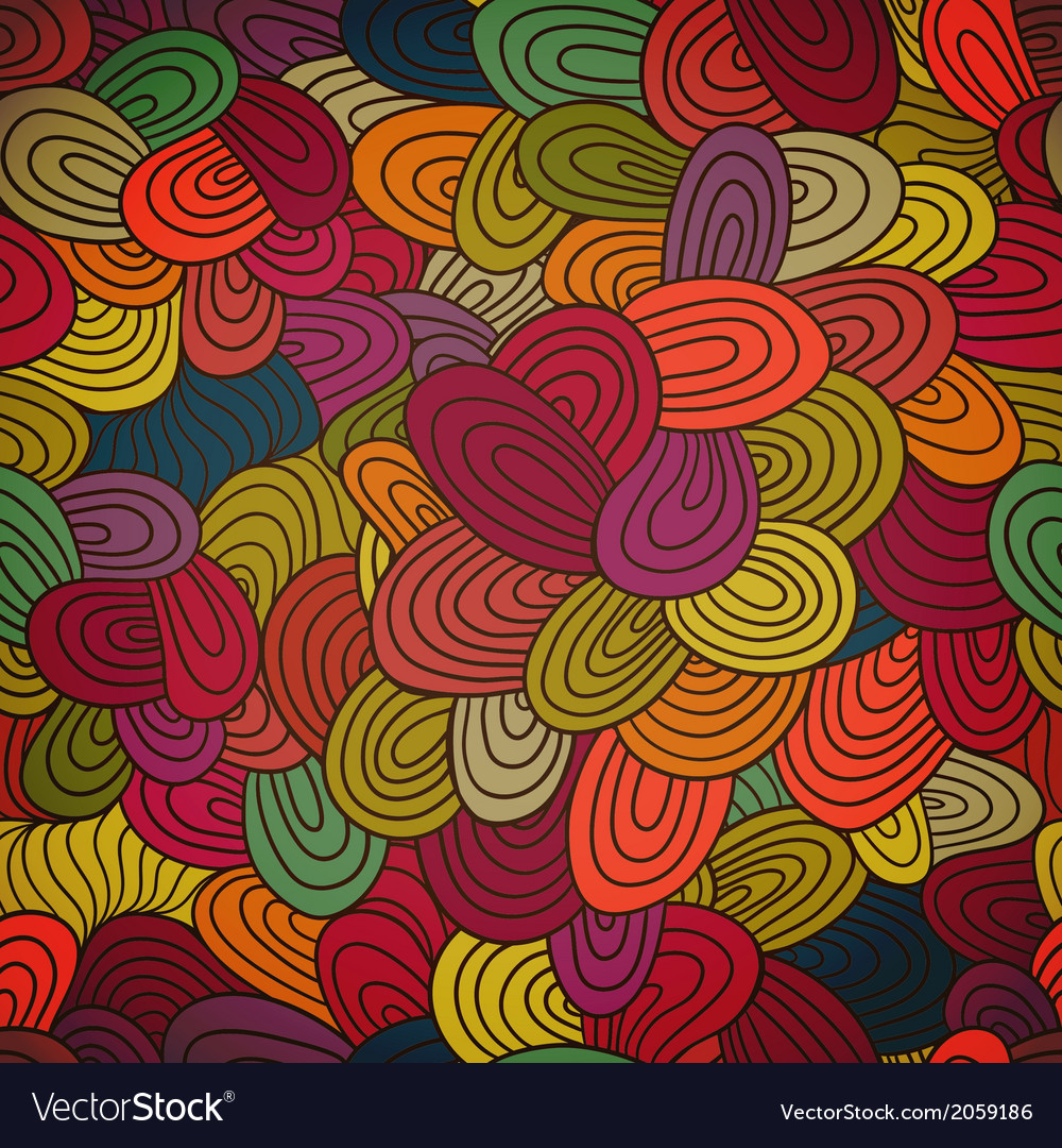Seamless hand-drawn abstract pattern endless vector | Price: 1 Credit (USD $1)