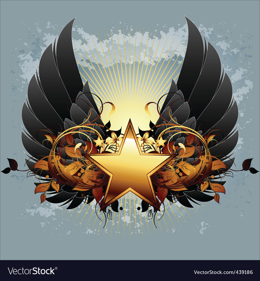 Star with ornate elements vector | Price: 3 Credit (USD $3)