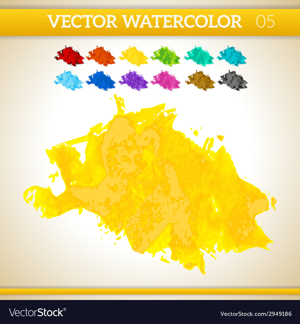 Sunshine yellow watercolor artistic splash for vector | Price: 1 Credit (USD $1)