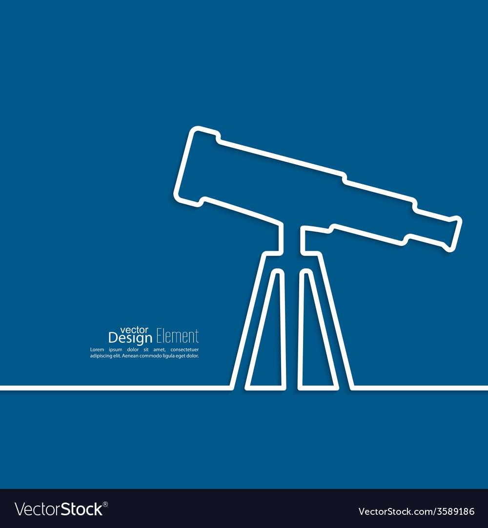 Telescope standing on a tripod vector | Price: 1 Credit (USD $1)