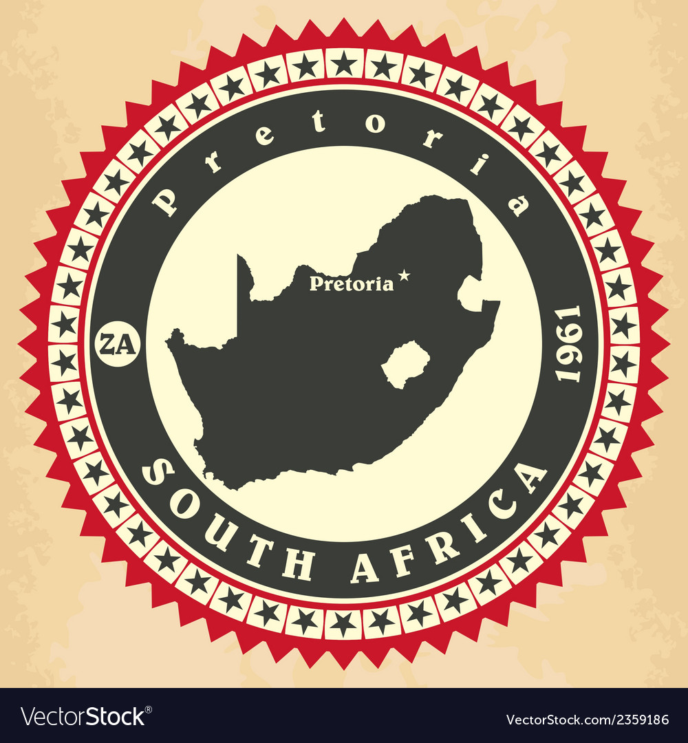 Vintage label-sticker cards of south africa vector   Price: 1 Credit (USD $1)