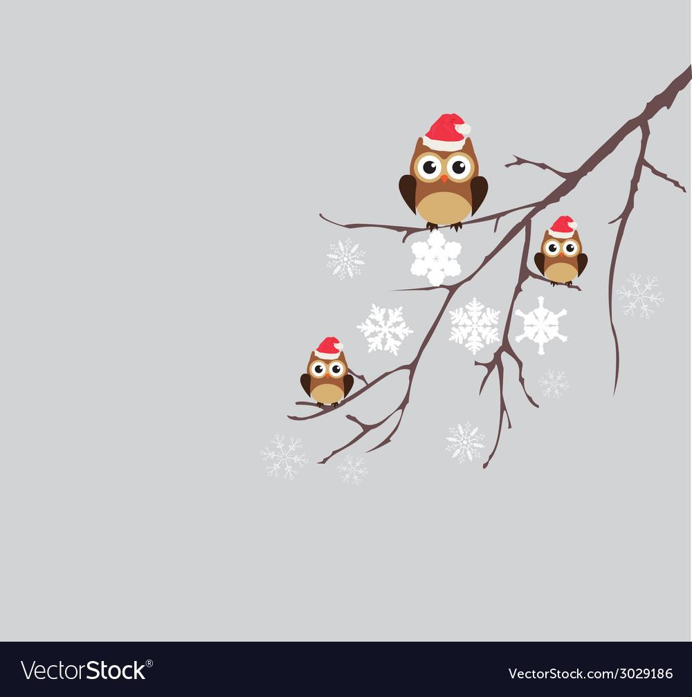 Winter owl vector | Price: 1 Credit (USD $1)
