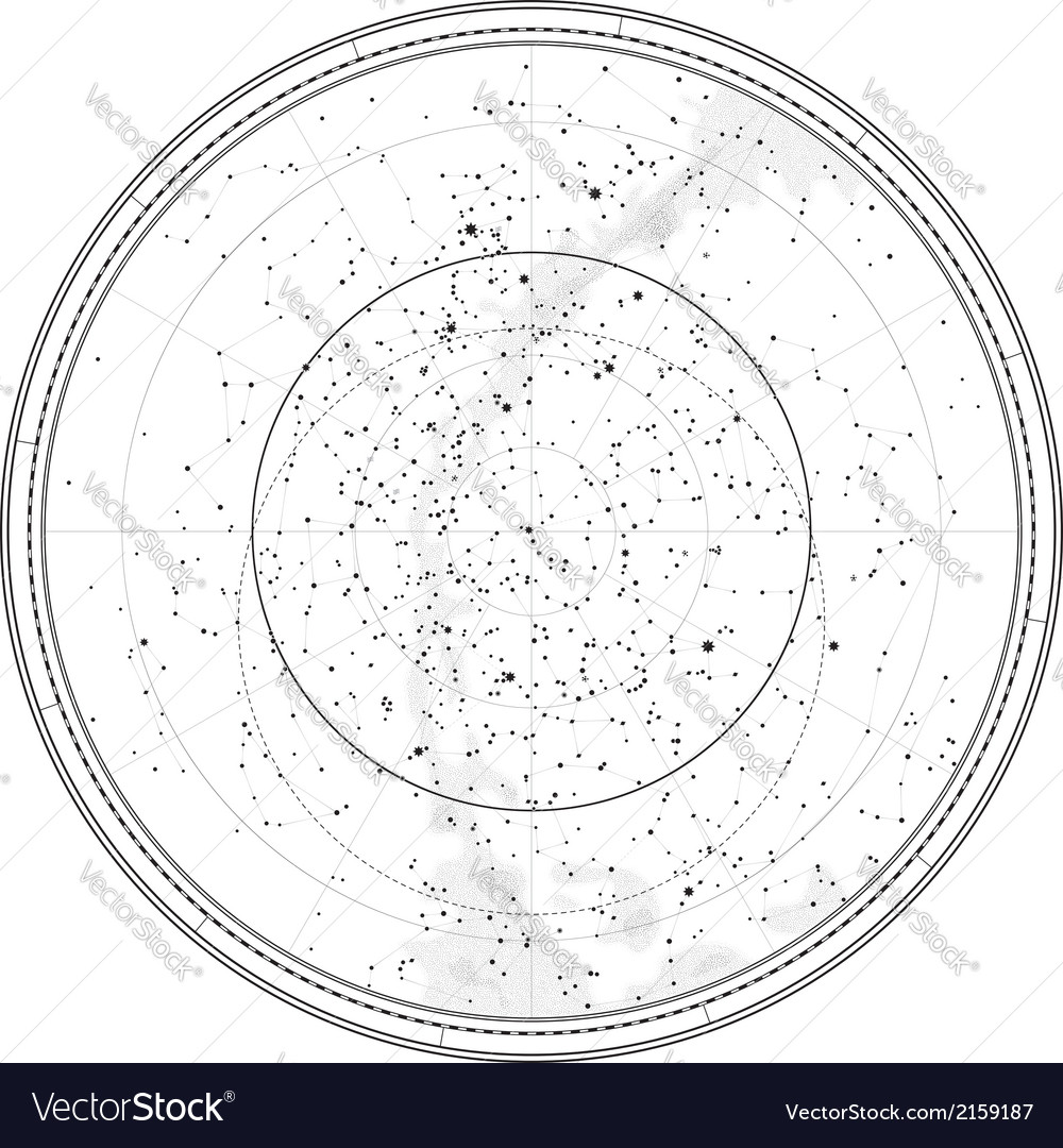 Astronomical celestial map vector | Price: 1 Credit (USD $1)