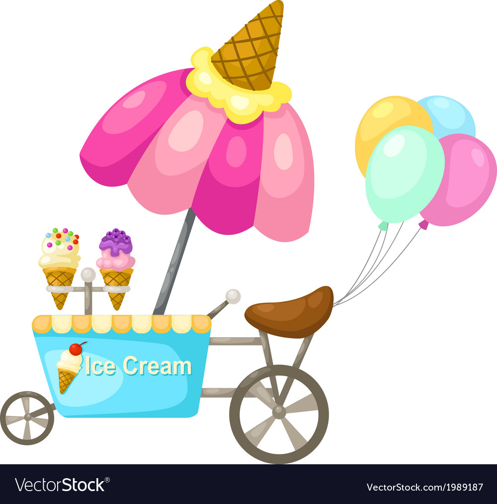 Cart stall and a ice cream vector   Price: 1 Credit (USD $1)