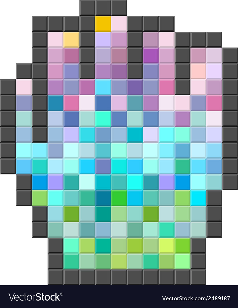 Colorful pixelated computer cursor vector | Price: 1 Credit (USD $1)