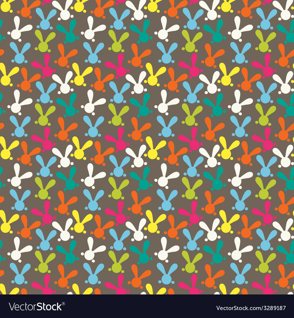 Colorful seamless pattern with easter bunny vector | Price: 1 Credit (USD $1)