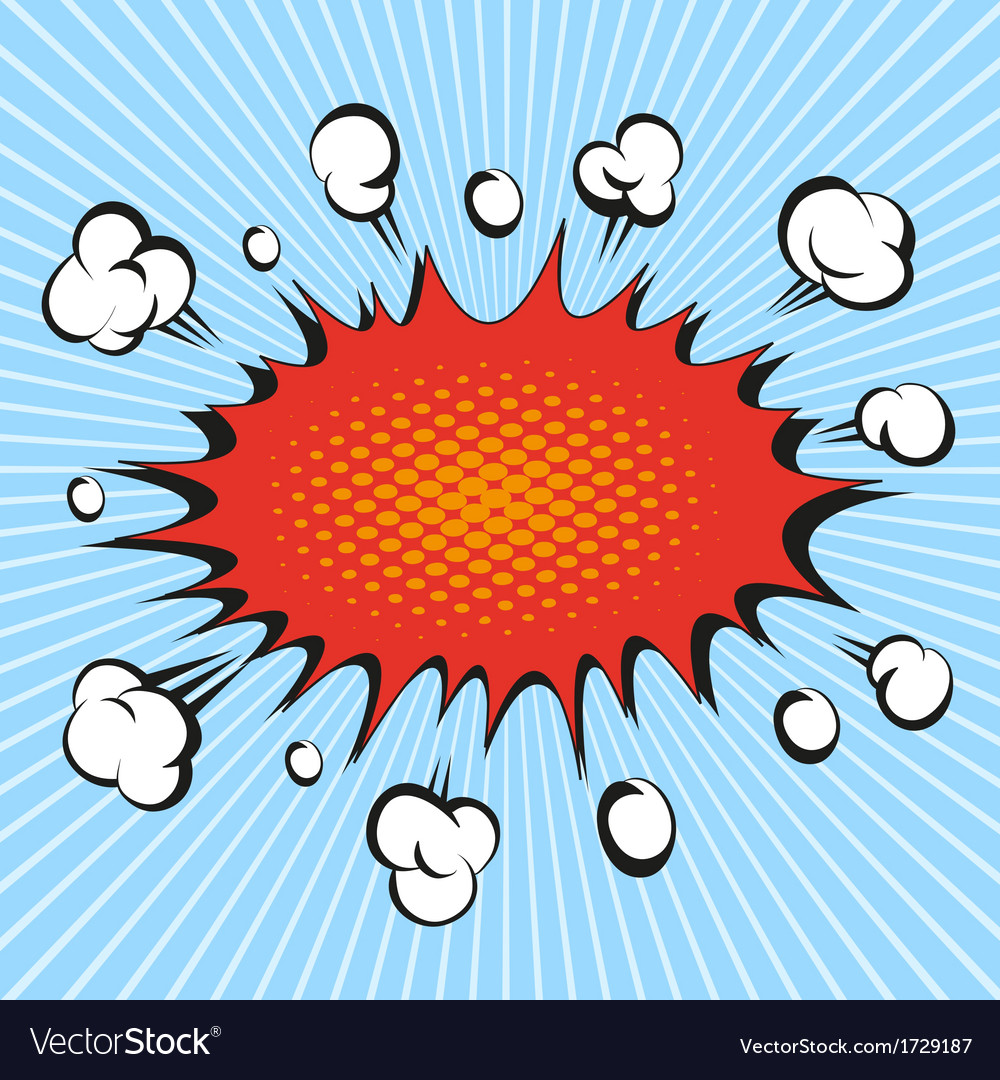 Comic book explosion vector | Price: 1 Credit (USD $1)