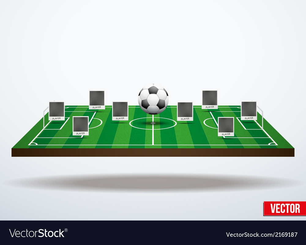 Concept participants playing soccer vector | Price: 1 Credit (USD $1)