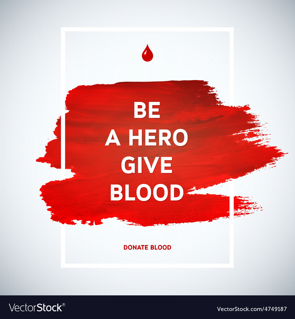 Creative blood donor day motivation information vector | Price: 1 Credit (USD $1)