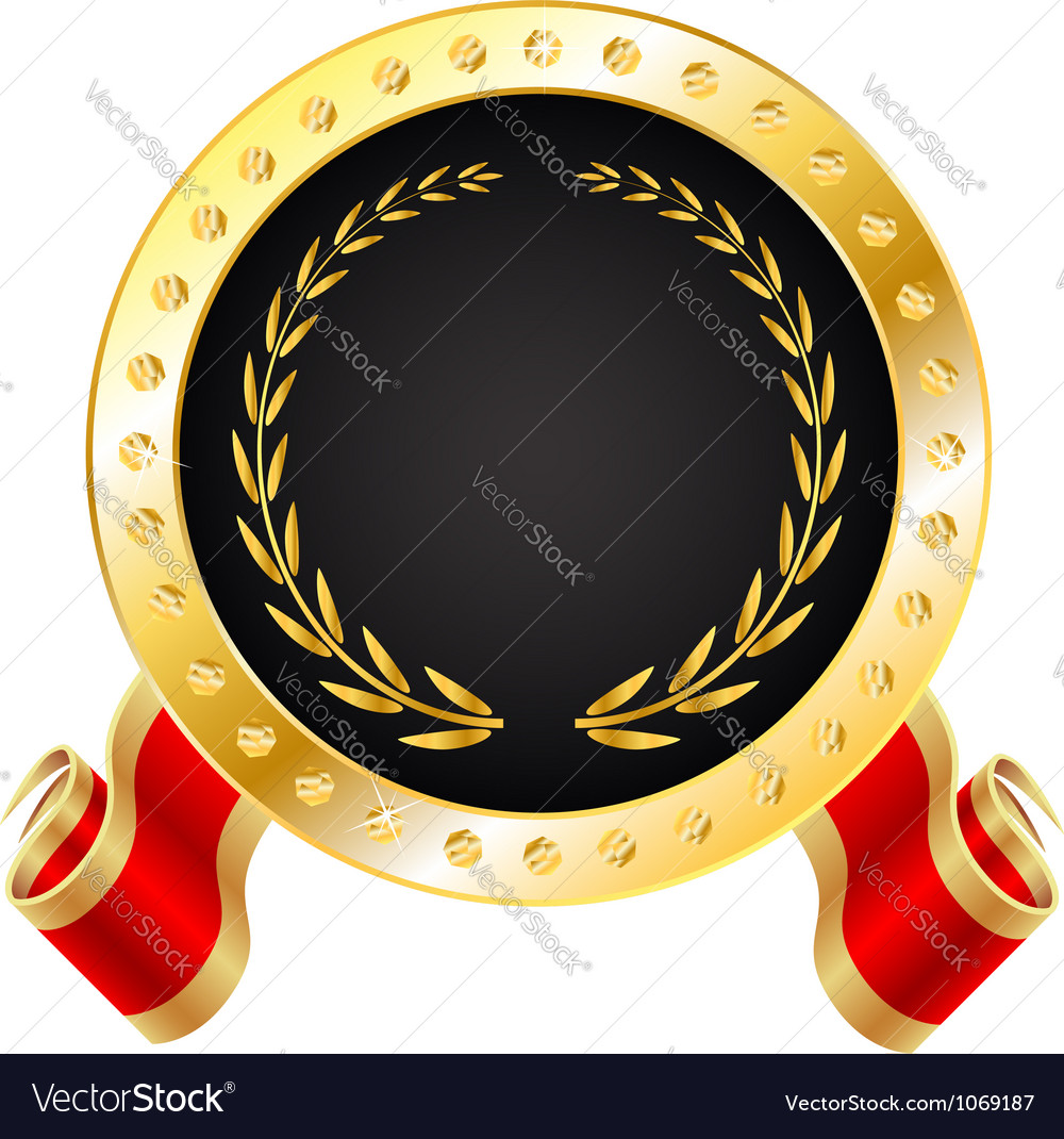 Golden winner medal vector | Price: 1 Credit (USD $1)