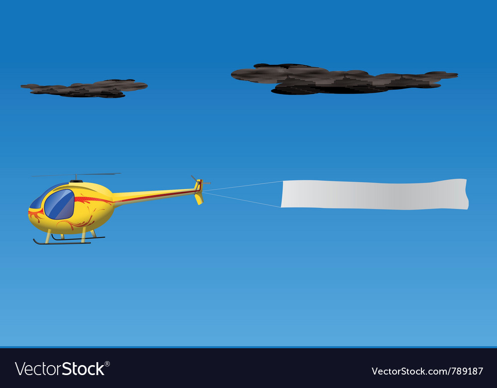 Helicopter banner vector | Price: 1 Credit (USD $1)
