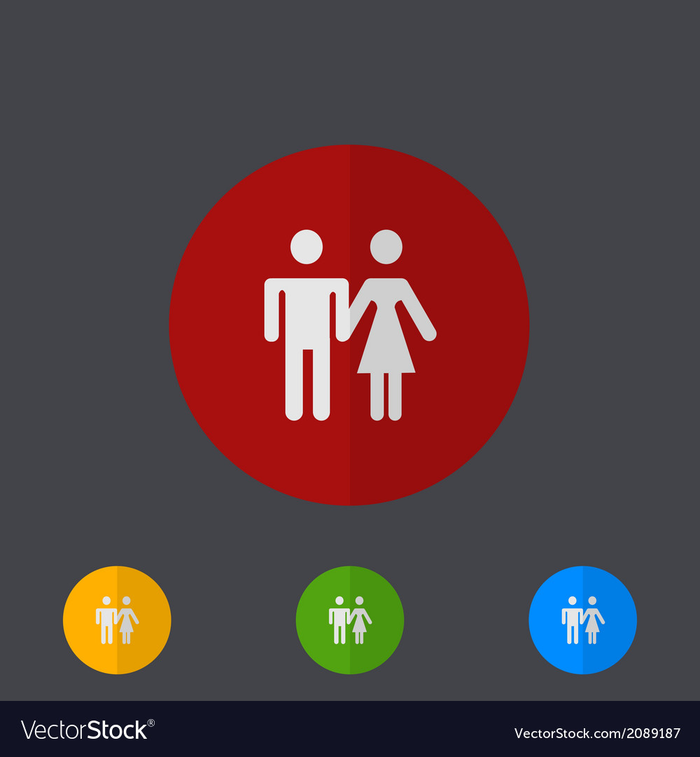 Modern circle icons set on gray vector   Price: 1 Credit (USD $1)