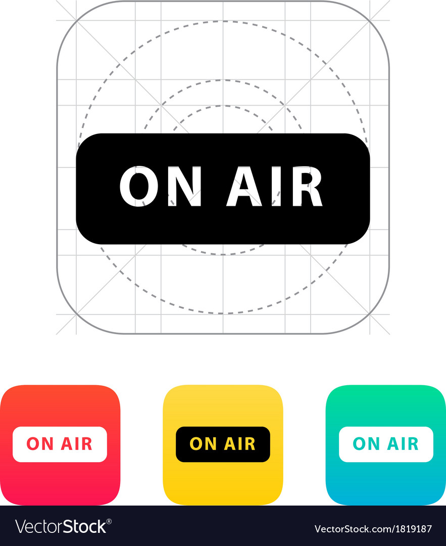 On air broadcasting icon vector | Price: 1 Credit (USD $1)