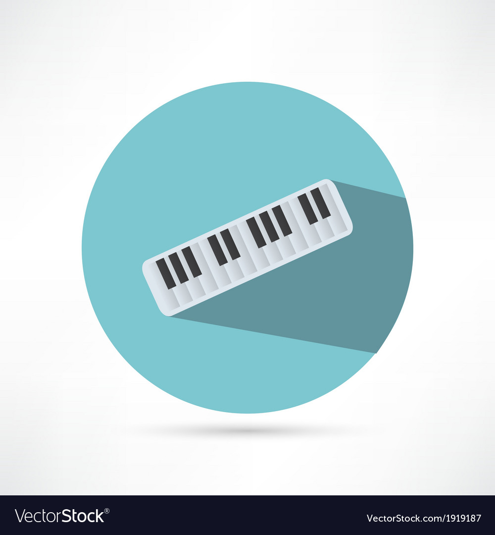 Piano icon vector | Price: 1 Credit (USD $1)