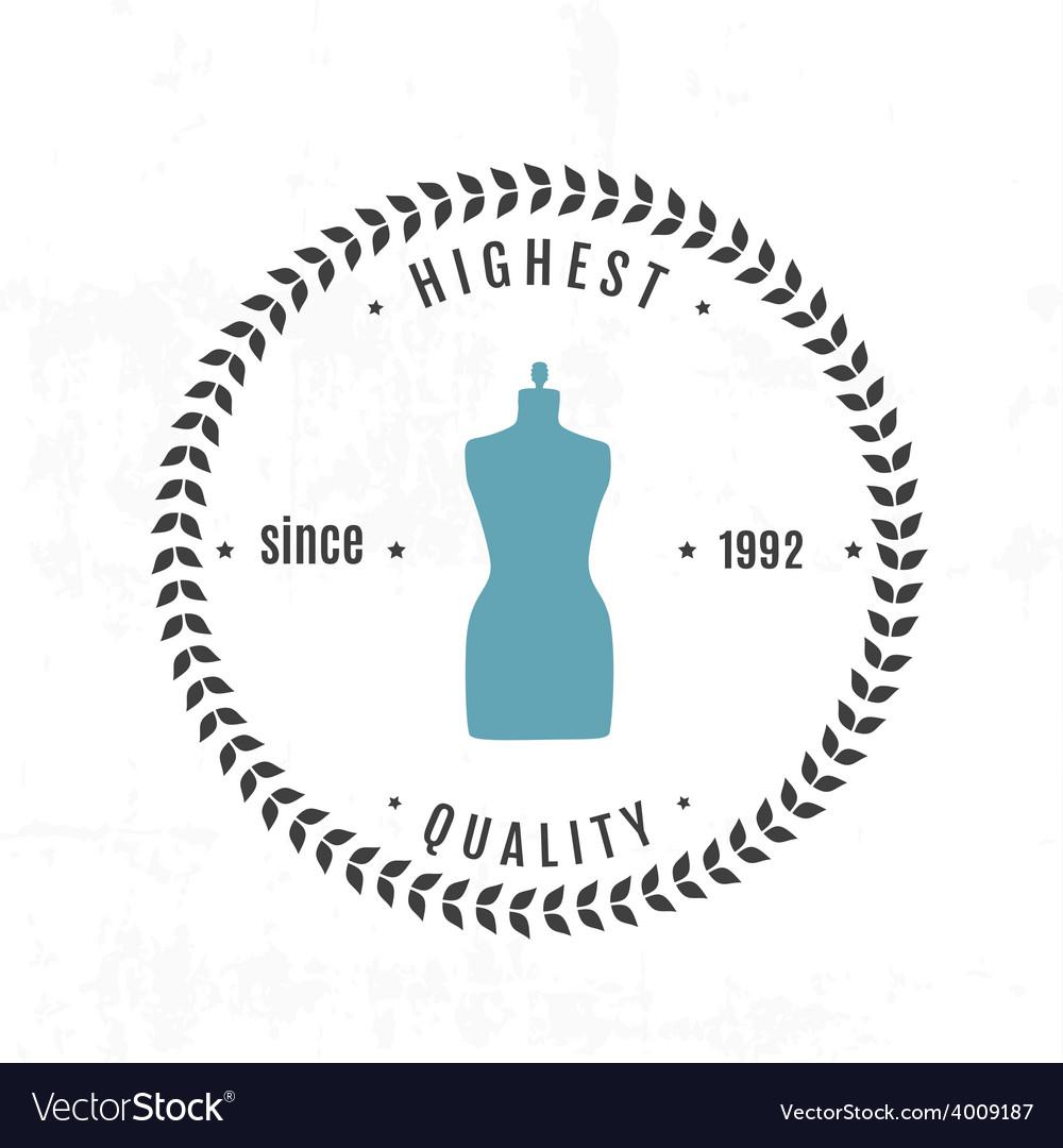 Set vintage retro mannequin shopping badges vector | Price: 1 Credit (USD $1)