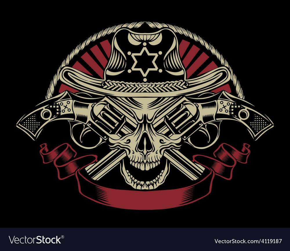 Sheriff skull vector | Price: 3 Credit (USD $3)