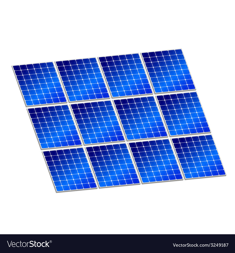 Solar panel in blue color vector | Price: 1 Credit (USD $1)