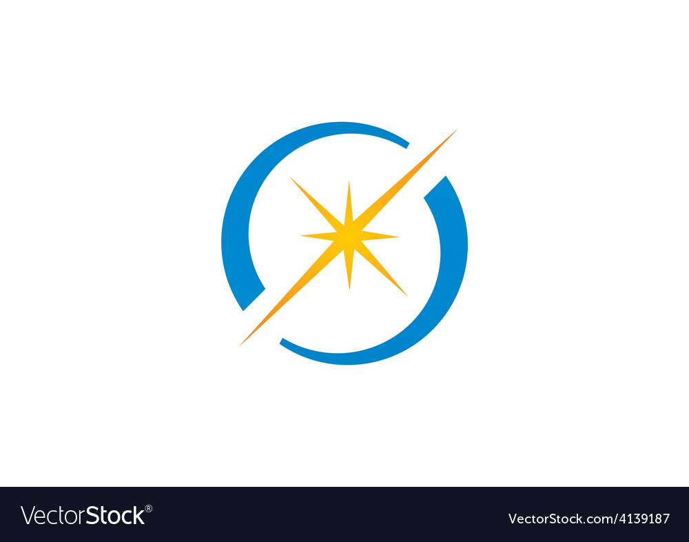 Spark star shine circle logo vector | Price: 1 Credit (USD $1)