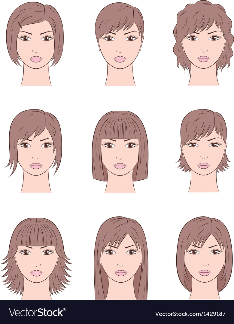 Women s faces vector | Price: 1 Credit (USD $1)