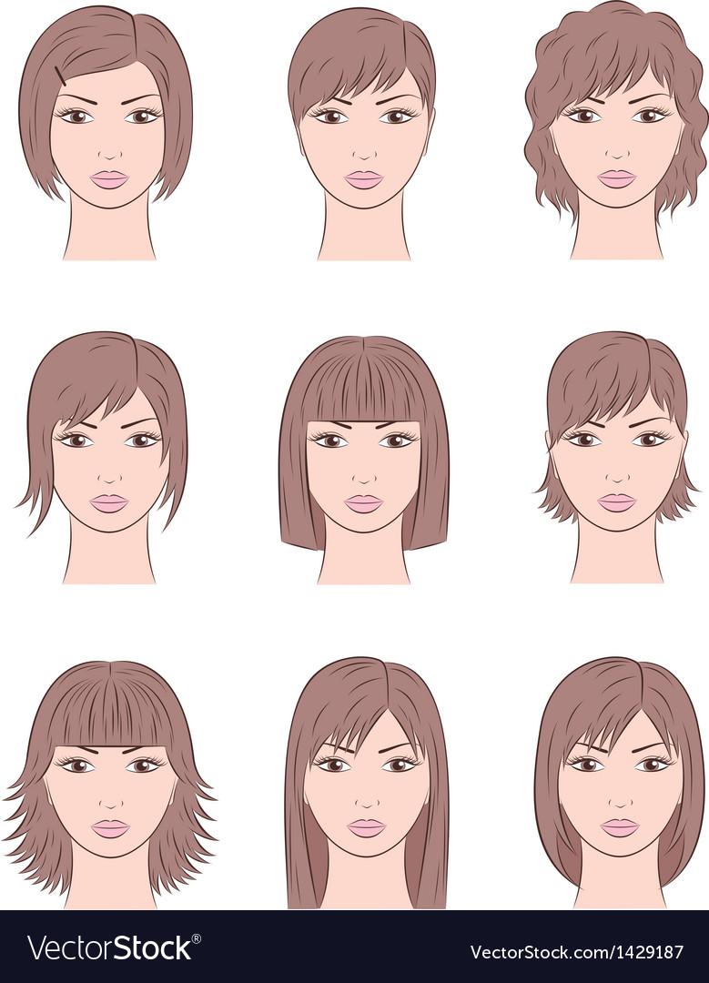 Women s faces vector | Price: 1 Credit (USD $1)