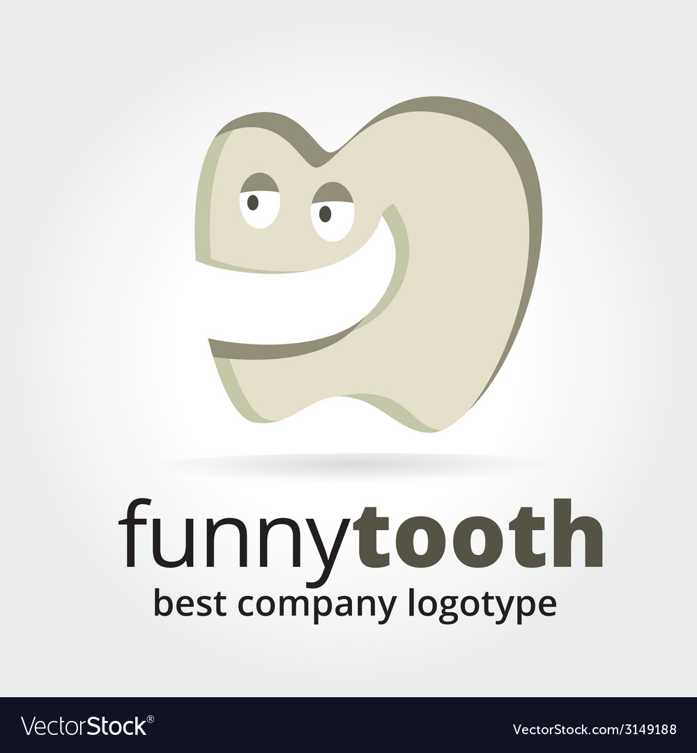 Abstract tooth character logotype concept isolated vector | Price: 1 Credit (USD $1)