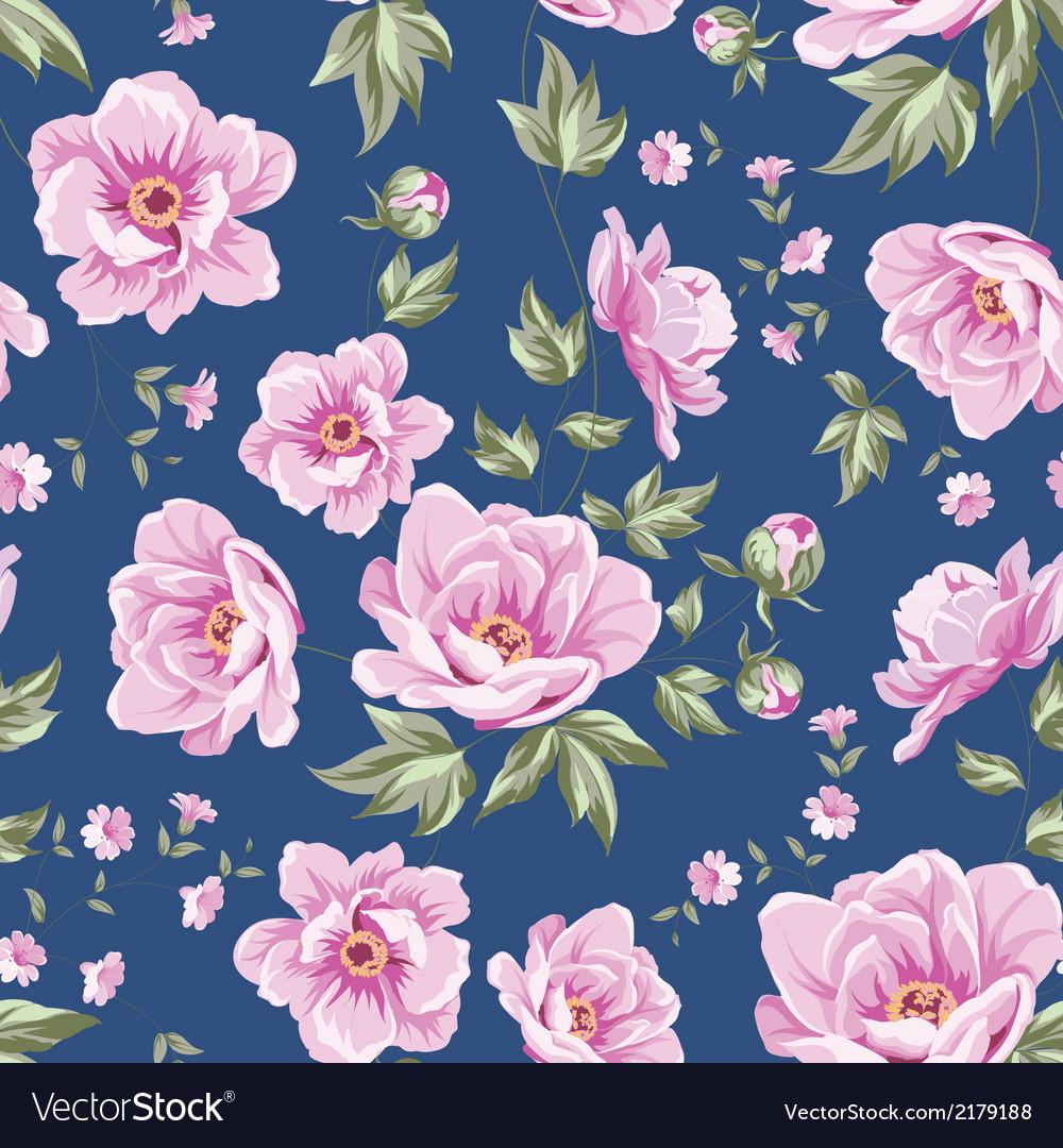 Elegant seamless peony pattern vector | Price: 1 Credit (USD $1)
